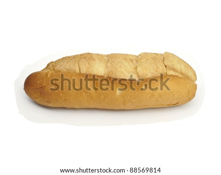 bread  isolated on white background