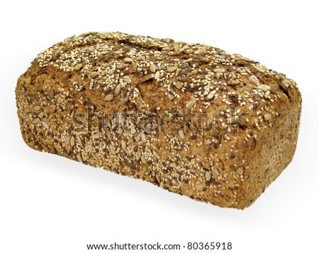 Bread made from whole grain - stock photo
