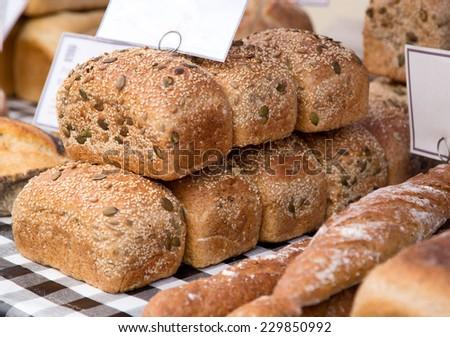 bread market - stock photo