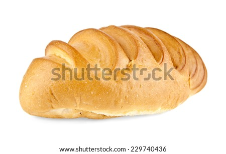 bread on a white background - stock photo
