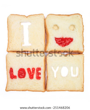 bread on white background - stock photo