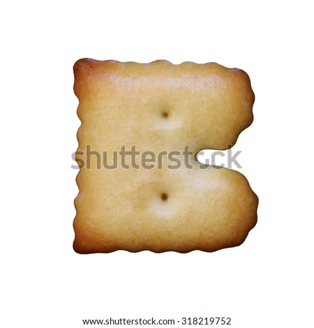Bread sample letter b on white background. - stock photo