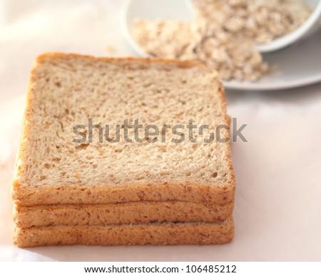 Bread slice - stock photo