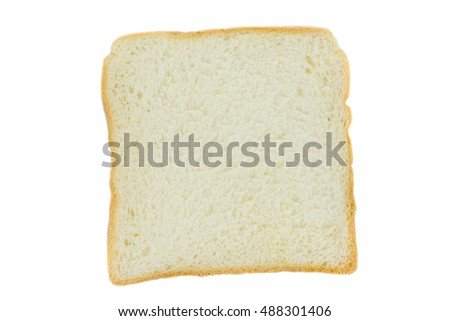 bread slice isolated on white background