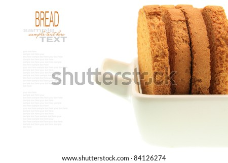bread slice with replaceable sample text