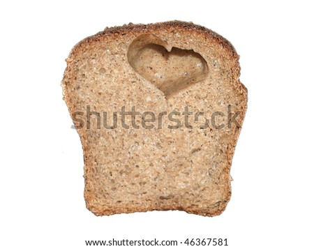 Bread with a heart inside