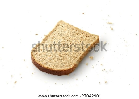 bread with crumbs - stock photo