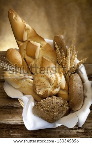 Bread with wheat and oats - stock photo