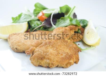 Breaded cutlet, cotoletta. - stock photo