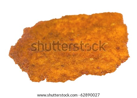 Breaded Schnitzel-Cutlet,isolated on White - stock photo