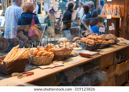 Breads at the market - stock photo