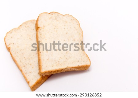 Breads on a white background