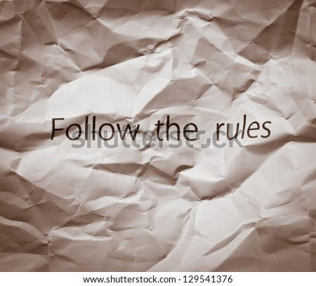Break the rules!  Concept for breaking the rules, revolution, releasing from slavery, protest, freedom or breaking business rules, unusual business strategies. - stock photo