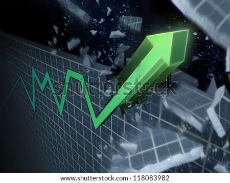 Break through - stock photo
