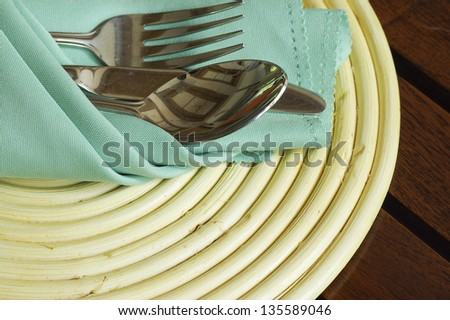 breakfase prepare set - stock photo