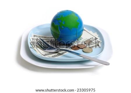 breakfast business - stock photo