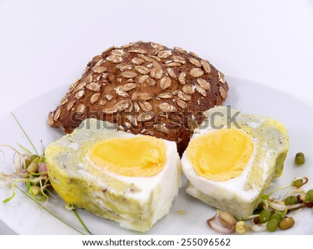 breakfast eggs - stock photo