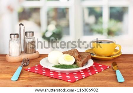 Breakfast in cafe - stock photo