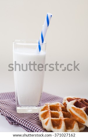 Breakfast milk with wafer