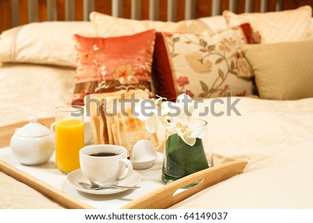 Breakfast tray - stock photo