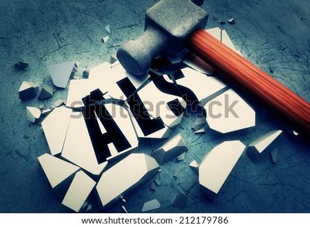 Breaking ALS  - stock photo