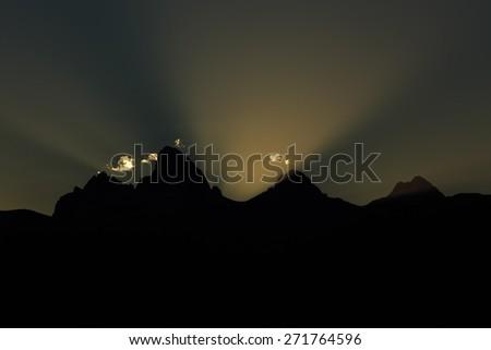 Breaking Dawn - stock photo