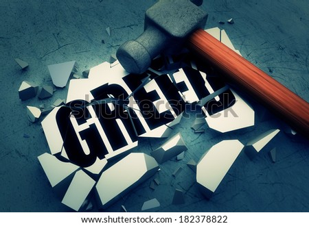 Breaking greed - stock photo