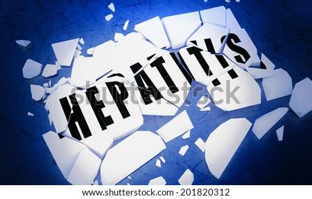 Breaking hepatitis - stock photo