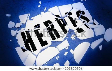 Breaking herpes - stock photo