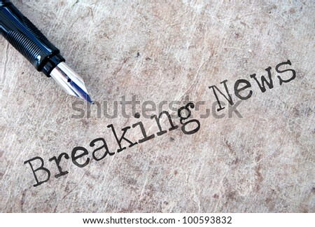 Breaking news - stock photo