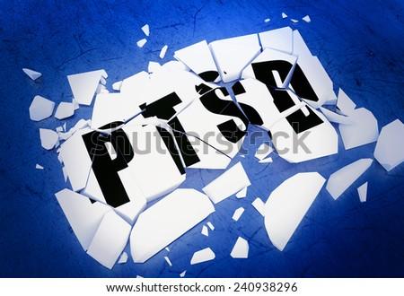 Breaking PTSD - stock photo