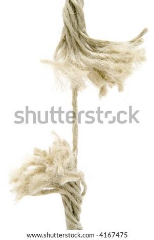 Breaking Rope - stock photo