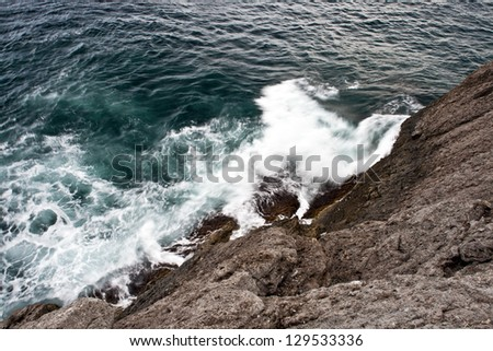 Breaking wave - stock photo