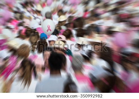Breast Cancer Awareness Ribbon - stock photo