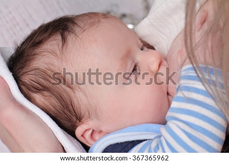 Breastfeeding Mother Infant Baby Boy