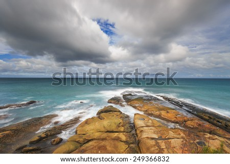 Breathaking view of the tip of Borneo, Simpang Mengayau, Malaysia. - stock photo