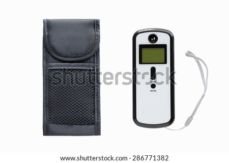 Breathanalyzer and a case isolated on a  white background - stock photo