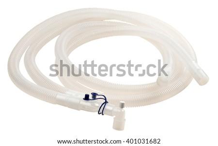 Breathing tube of respiratory apparatus - stock photo