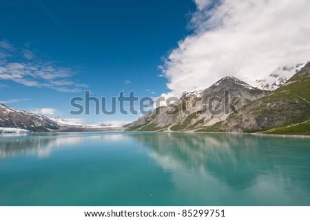 Breathtaking scenery of Glacier Bay National Park in Alaska. - stock photo