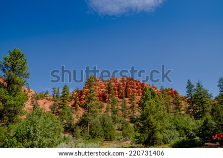 breathtaking view of bryce canyon national park utah - stock photo