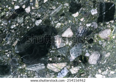 Breccia rock - stock photo