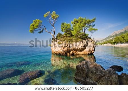 brela, croatia - stock photo