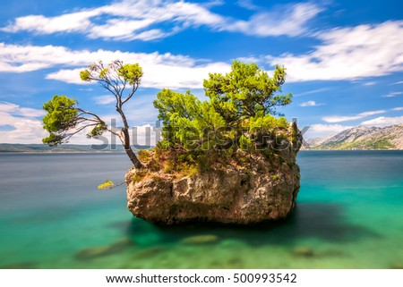 Brela rock on Adriatic sea, Croatia, Europe