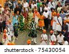 BRESCIA, ITALY - APRIL 16: Dance during Baisakhi procession 2011 on April 16, 2011 in Brescia - stock photo