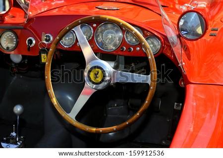 BRESCIA, ITALY - MAY 17: 1000 Miglia, vintage cars race in Brescia, May, 17 2012.  - stock photo