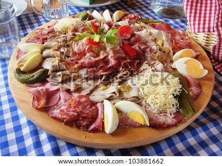 Brettljause - Typical Austrian Food - stock photo