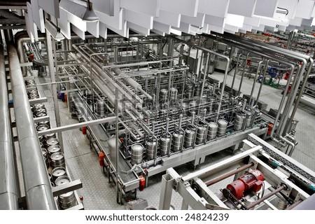 Brewery, top view - stock photo