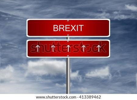 Brexit british EU referendum on European Union membership UK crisis exit. - stock photo