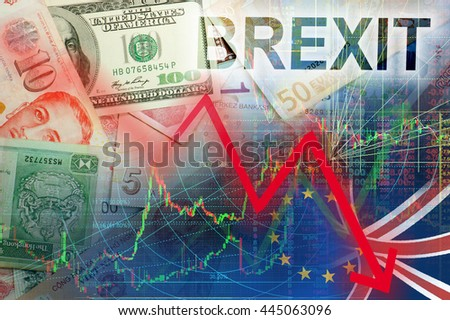Brexit effect - stock photo
