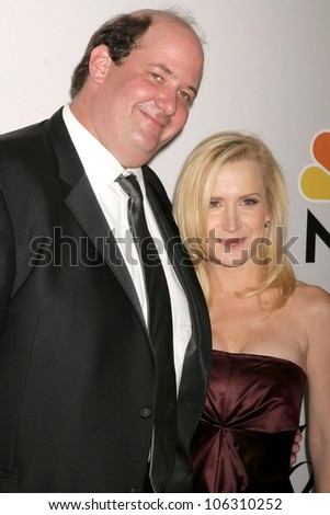 Brian Baumgartner and Angela Kinsey  at the NBC, Universal and Focus Features Golden Globe Awards After Party. Beverly Hilton Hotel, Beverly Hills, CA. 01-11-09